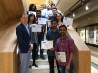 Successful participants of the course SAP S/4 HANA Introduction with certificates.